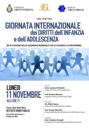 Diritti dell'Infanzia e dell'Adolescenza, dibattito alla Virgo Fidelis