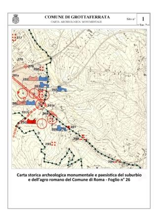 La Carta Archeologica di Grottaferrata