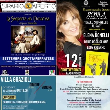 Settembre Grottaferratese, tris di eventi a Parco Patmos  nel weekend: teatro, musica romana e lo swing di Frank Antonucci