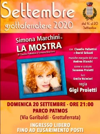 Settembre Grottaferratese, Simona Marchini in scena al Parco Patmos con 'La Mostra'