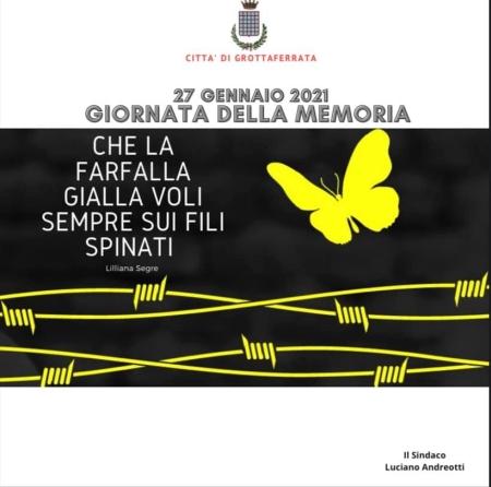 Giornata della Memoria 2021, il sindaco Andreotti scrive alle scuole
