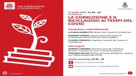 Post Covid, da Grottaferrata parte la lotta a corruzione e riciclaggio